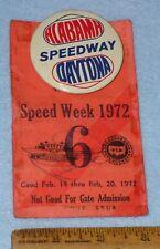1972  DAYTONA 500 Photographer Press Pass Badge w/ Pinback Button