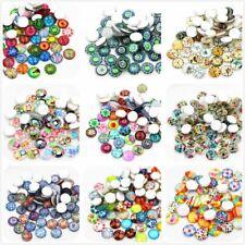 10pcs x 20mm Round Glass Dome Seals Cabochons Mixed Tree Pattern