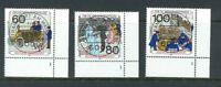 BRD Mi-Nr. 1474-1476 Ecke 4 - Eckrand + FN - Formnummer 1 - Vollstempel EST