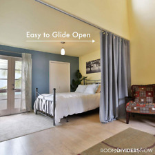 Ceiling Track Room Divider for Privacy, Home Care, Dorms, Studio Apts, etc.
