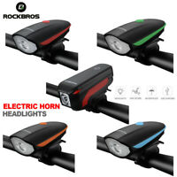 ROCKBROS Cycling 2In1 Bicycle Horn Light 120dB Electric Bell Headlight Rainproof