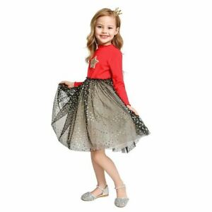 Girls Dress Children Long Sleeve Sequined Princess Dresses Casual Clothes