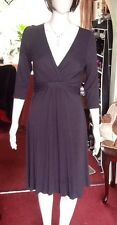 Charcoal Coloured Empire Line Fitted Dress From Phase Eight Size 14