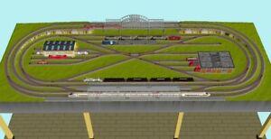 "GP3-0070 Märklin C-Gleis-Plan ""Playtown"" (Ep.5) 300x118cm (DIN A4-Mappe Color)"