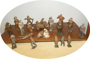 VC881 ~ LARGE GROUP TOY SOLDIERS / FIGURES ~ BARCLAY / MANOIL CAST IRON ETC.