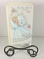 """Vintage Mid Century 1950's Greeting Card """"Baby Get Well """" w Envelope"""