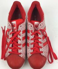 Adidas Men Shoes Superstar Snake Pack S82730 Shell Toe Red White Sneakers Sz 12
