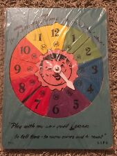 Vintage SIFO Wooden Children's Toy Puzzle Timmy Time Color Wheel Clock