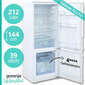 Kühlschrank Einbau 144 cm Einbaukühlschrank Gefrierfach integrierbar Einbaugerät