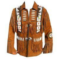 Hommes La frange Style Occidental bronzer Manteau Veste  American Style FR
