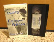 ENFOQUE AFRICA Spanish documentary VHS Egypt & Tanzania kids culture 1998