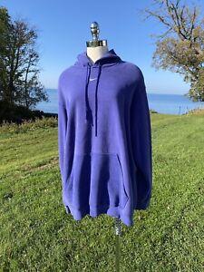 Vtg Nike Center Swoosh Hoodie Sweatshirt Pullover Blue RARE XXL Travis Scott 2X