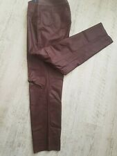 ROBELL JEANS size 48 R, coated leather effect, stunning jeans