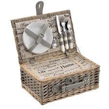 [casa.pro]® Picknickkorb für 2 Personen Kühltasche Camping Set Korb Besteck