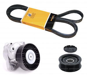 Serpentine Drive Belt Kit with Tensioner & Idler Pulley for Mercedes Benz