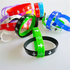 5pcs Rock Bands Fashion Unisex Silicone Wristbands Rubber Bracelet