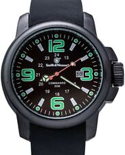 Smith & Wesson Black Mens Amphibian Commando Water Resistant Watch W1100