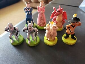 SHREK CHESS SET GAME REPLACEMENT PIECES Lot of 7 Knights Dragon 2004 Figures