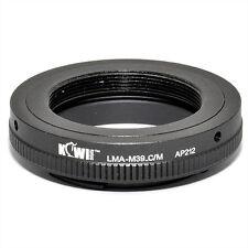 Adaptateur Bague Objectif Leica M39 vers Boitier Canon EOS EF-M Mirrorless