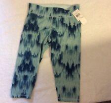 Adidas Ladies Fitness Pants Ice Mint Print Size Large
