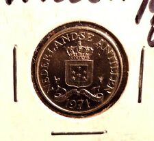 UNCIRCULATED 1971 25 CENT NEDERLANDSE  ANTILLEN COIN (72216)2