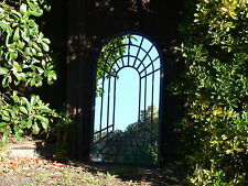 SUPERB 1 m high PROVINCIAL garden arched rust FRENCH 3D  full MIRROR   NEW