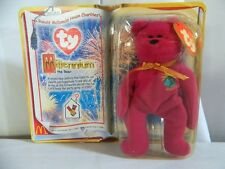 Vintage 1999 Beanie Babies Ronald McDonalds Purple Millennium Bear 1 & Up
