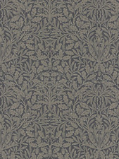 William Morris Pure Acorn Charcoal Silver 216033 Wallpaper