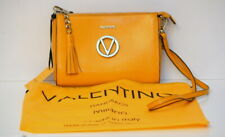 NWT Valentino By Mario Valentino Women's Yellow Suzanne Leather Crossbody Bag