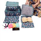 6pcs Travel Storage Bags Set Clothes Underwear Laundry Pouch Luggage Organizer