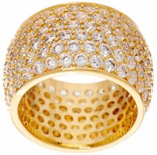 JOAN RIVERS COLLECTIBLE GOLDTONE JOAN'S PAVE WEDDING BAND RING SIZE 7 QVC $69.00