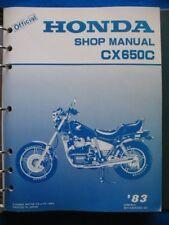 Honda 1983 CX650C Custom New Old Stock Factory Service Shop Manual