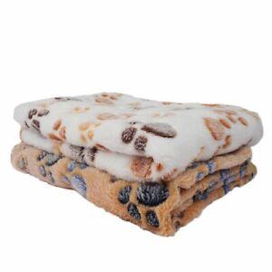 Dog Blanket Winter Dog Cat Bed Mat Foot Print Soft Warm Mattress Pet Supplies