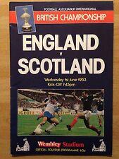 England v Scotland 1982/83 programme