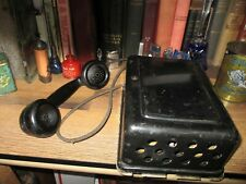 antique TELEPHONE Western Electric 534A Ringer Box Subset PHONE BLACK METAL