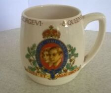 China mug commemorating the coronation of H M King George V1 & Queen Elizabeth