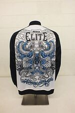 MMA Elite Black & White Track Jacket Men's Medium GREAT Satisfaction Guaranteed