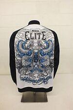 MMA Elite Black & White Track Jacket Men's Medium GREAT Satisfaction Guaranteed
