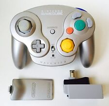 GameCube Official Platinum Wavebird Controller + Receiver *Cleaned* *Tested*