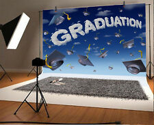 Graduation Season Bachelor Cap Photo Backdrop Props Background Studio 10x6.5ft