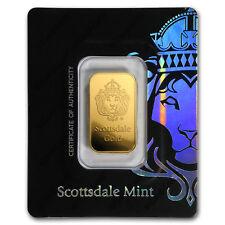 10 gram Gold Bar - Scottsdale Mint (In Certi-Lock® Assay, Black) - SKU#171695
