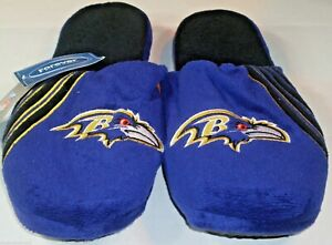 NFL Baltimore Ravens Stripe Logo Slide Slippers Size Men Large by FOCO
