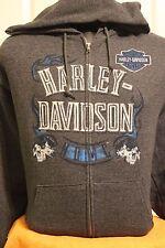 Harley-Davidson Mens's Askew Scorpion Full Zip Fleece  Hoodie L/S XLarge
