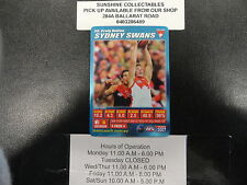 2007 TEAMCOACH BLUE PRIZE CARD NO.50 CRAIG BOLTON SYDNEY SWANS