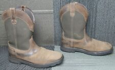 Mens ARIAT Groundbreaker Wide Square Toe H2O Soft Toe Work Boots sz 10.5 D