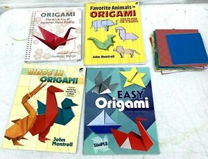 Lot of 4 Origami Books, Paper- Lots Of Paper