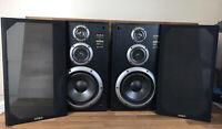 "Vintage 21.5"" Aiwa SX-E9 Speakers 120w"
