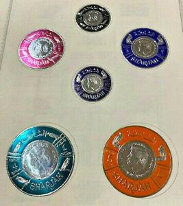 1966 SHARJAN UAE SET OF 6 FOIL STAMPS JOHN KENNEDY MEMORIAL