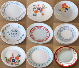 Arcopal Dinner Plates (25cm) Soup Bowls (20cm) Side Plates (18cm) Breakfast Bowl