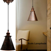 Modern ceiling light shade pendant vintage lampshade chandelier rustic colour UK